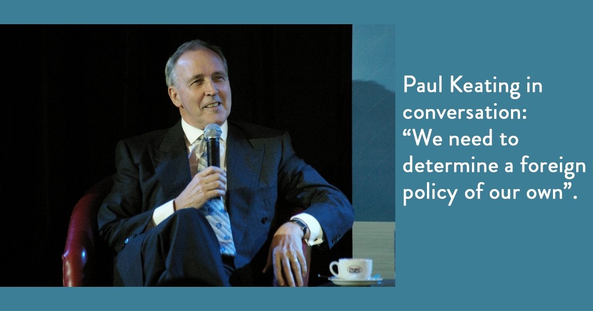 Paul Keating in Conversation